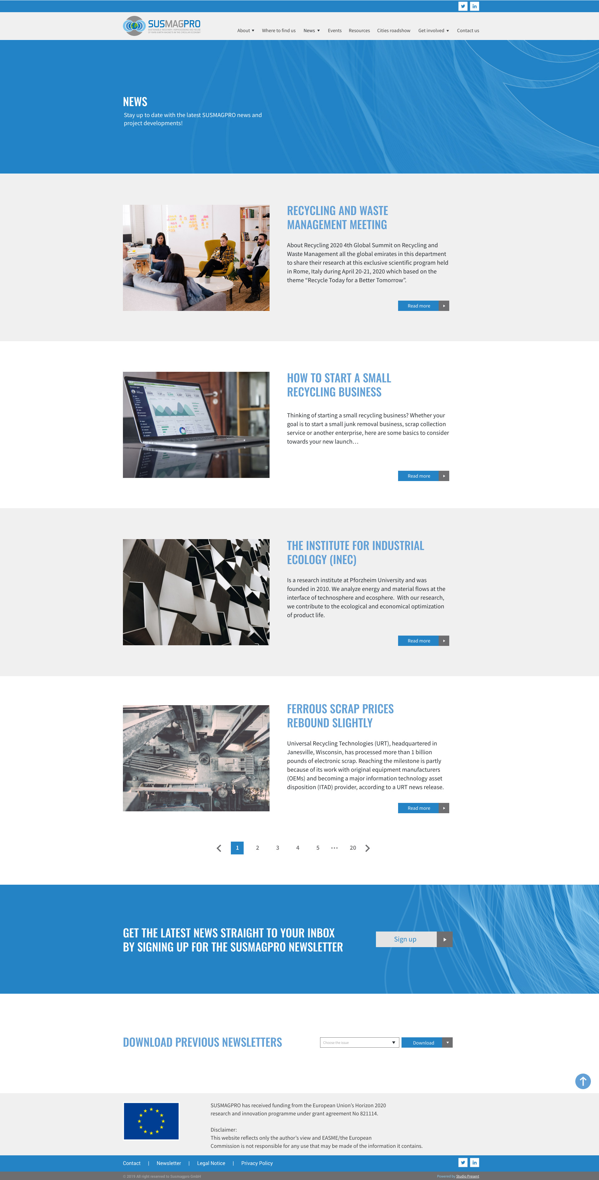 Susmagpro case study website screenshot - Studio Present